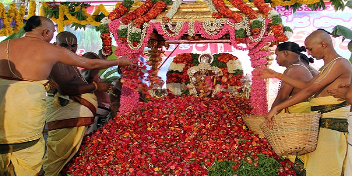 Lord Balaji with Flowers