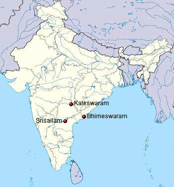 Trilinga Desam or Trilinga Kshetras or Trilinga Temples